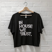 Womens In House Boxy Tee Black
