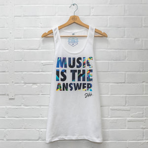 Mens Shhh Music is The Answer Vest
