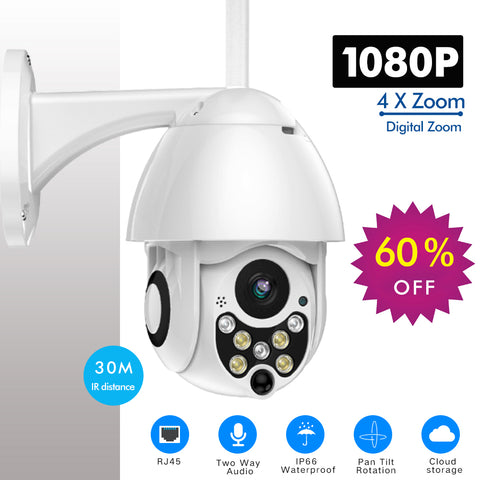 IP Camera Outdoor Speed Dome Wireless Wifi Security Camera Pan Tilt 4X Zoom IR Network CCTV Surveillance 720P