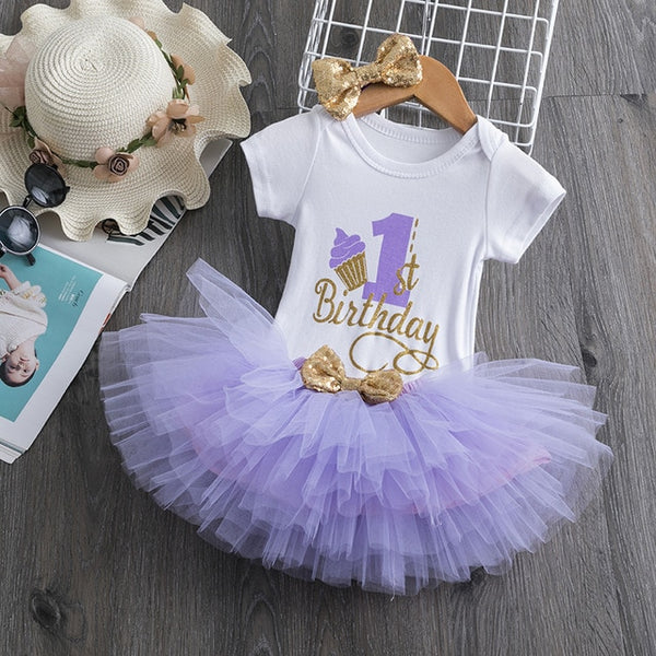 First Birthday Lavender Cupcake Tutu and Top Set - Posh Kids Boutique Clothing