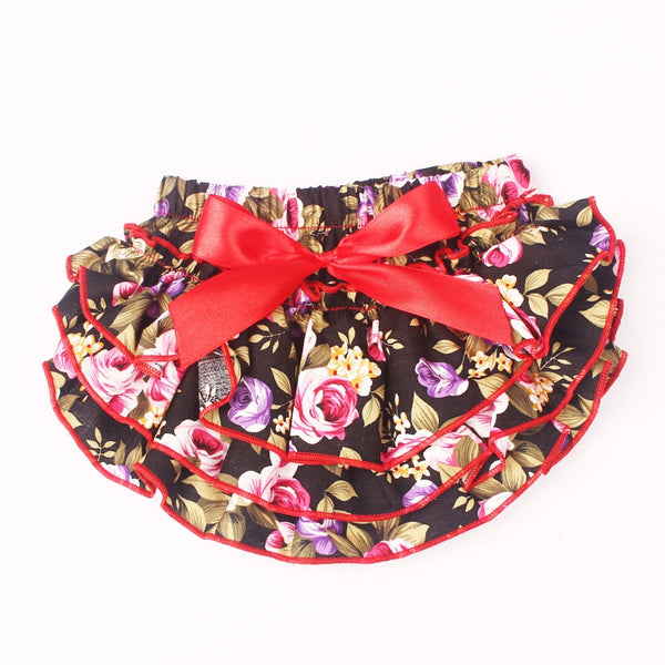Ruffle Baby Bloomers and Headband Set - Floral Red - Posh Kids Boutique Clothing