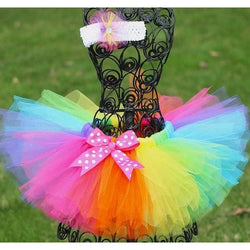 Toddler Rainbow Tutu and Headband Set - Posh Kids Boutique Clothing
