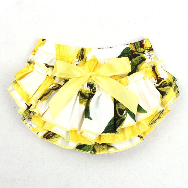 Ruffle Baby Bloomers and Headband Set - Yellow Tropical - Posh Kids Boutique Clothing