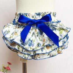 Ruffle Baby Bloomers and Headband Set - Royal Blue Floral - Posh Kids Boutique Clothing