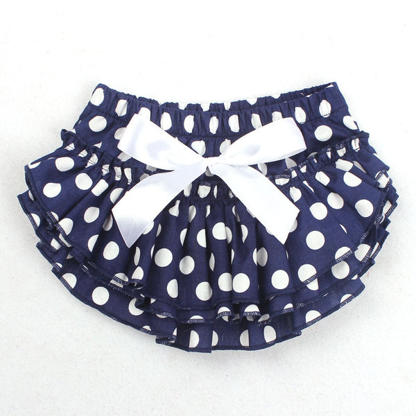 Ruffle Baby Bloomers and Headband Set - Navy Blue Dot - Posh Kids Boutique Clothing