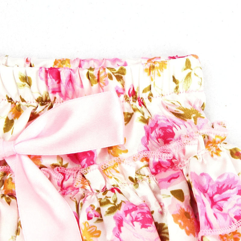 Ruffle Baby Bloomers and Headband Set - Pink Floral - Posh Kids Boutique Clothing