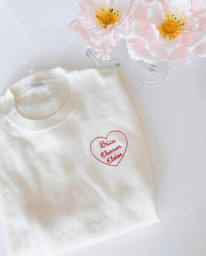 Women's Personalized Cotton and Cashmere Sweater