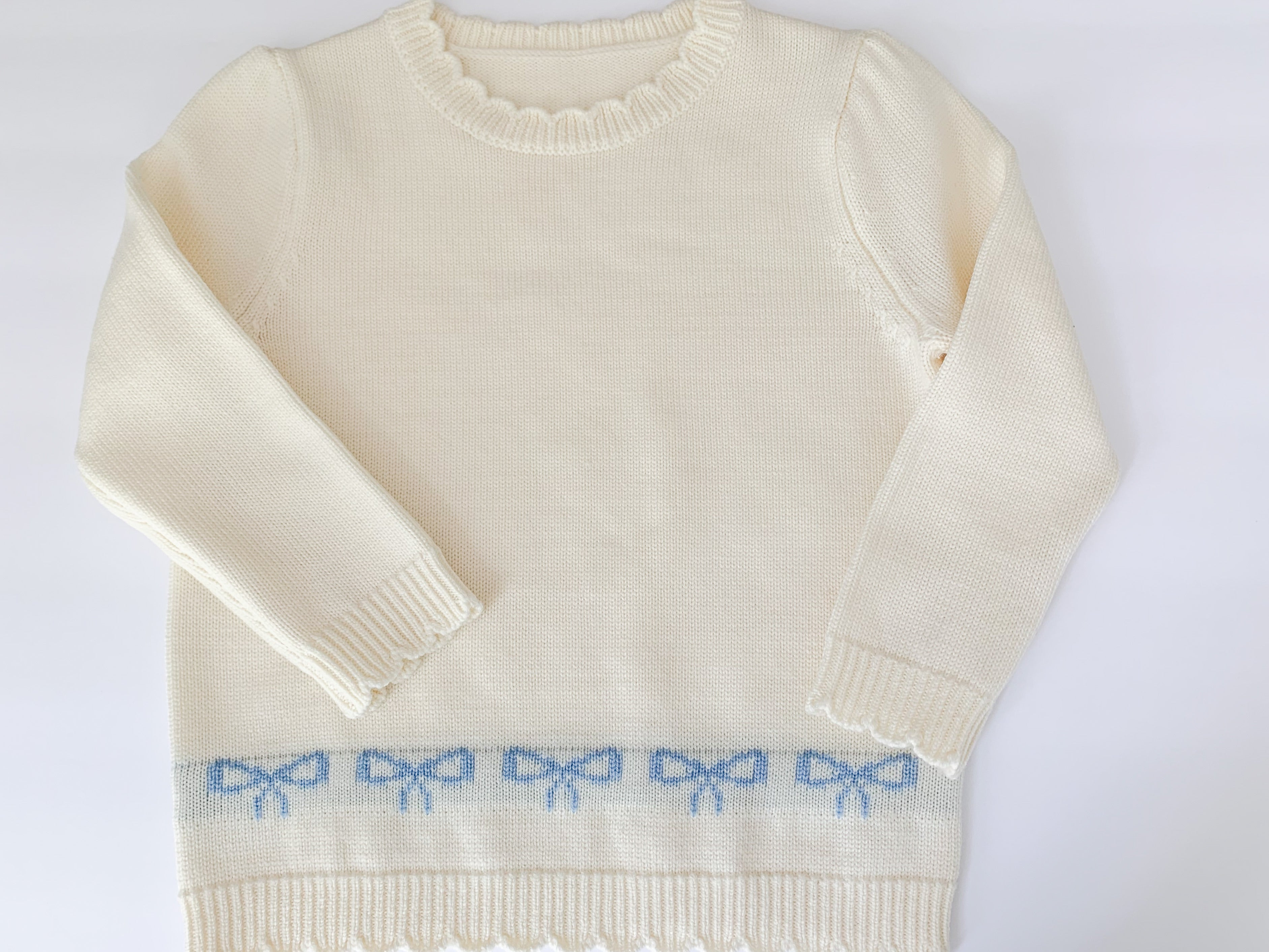 Women's Merino Wool Bow Sweater(arrives 10/15)