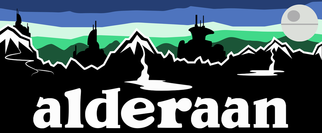 Alderaan Sticker