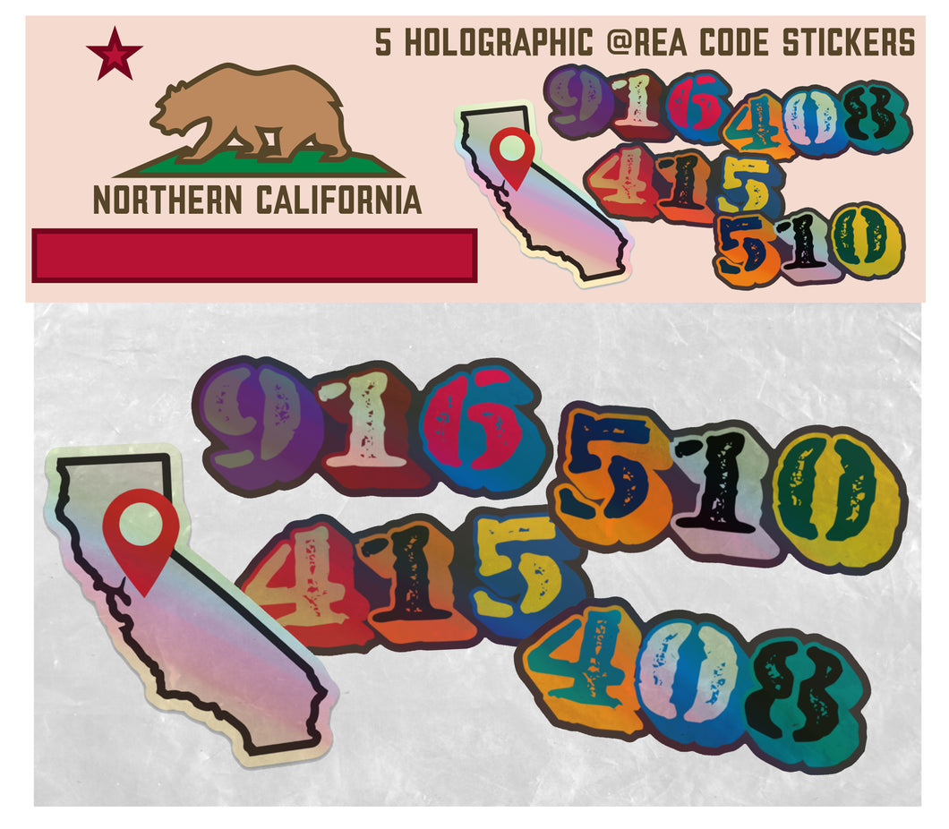 Nor-CAL-Holographic Sticker Pack
