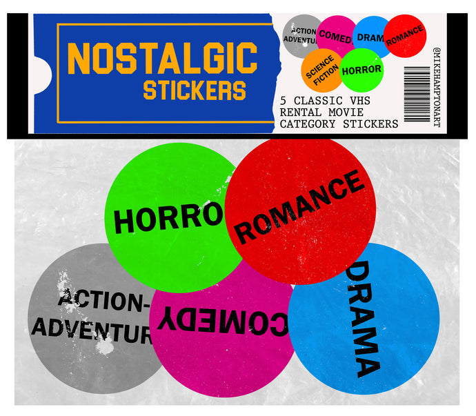 Nostalgic Movie Rental Sticker Pack