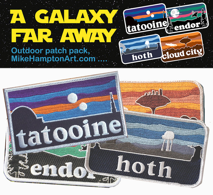 A Galaxy Far Away Outdoor patch pack