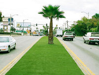 Landscape artificial turf laying