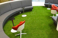 Application of artificial turf in commercial decoration