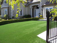 Application of Golden Moon Simulated Lawn in Landscaping