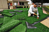 Some signs of artificial turf aging