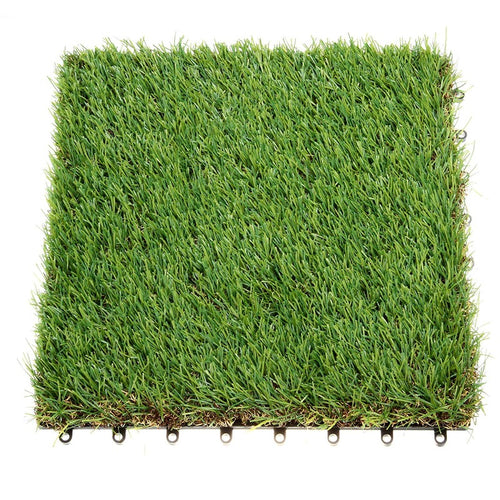 Artificial Grass Interlocking Tiles for Dog Rugs Size 1'X1' 1.5'' Piles Height 1 Pack