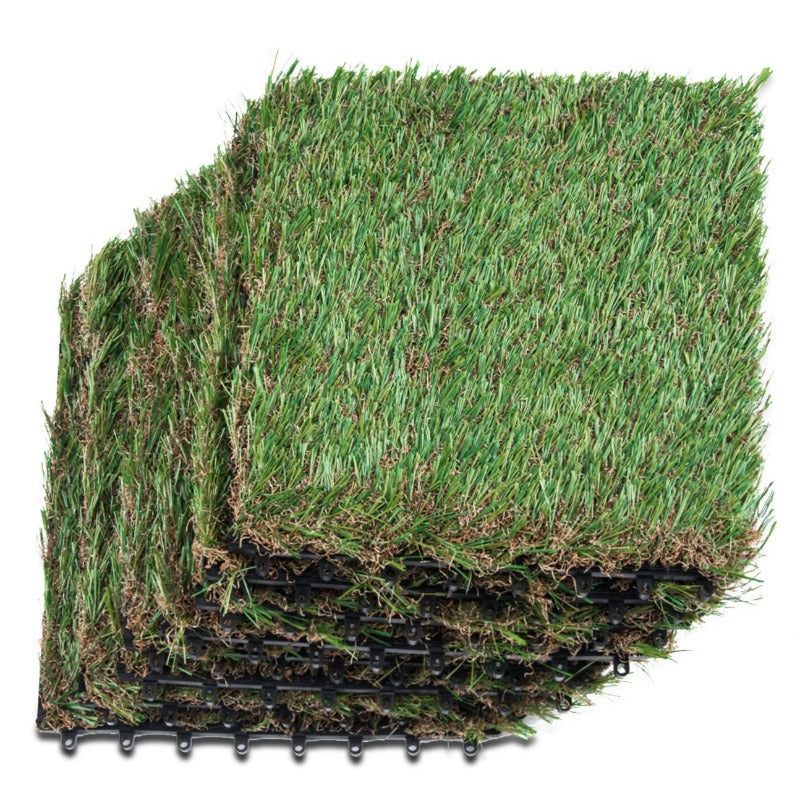 Artificial Grass Interlocking Tiles for Dog Rugs Size 1'X1' 1.5'' Piles Height