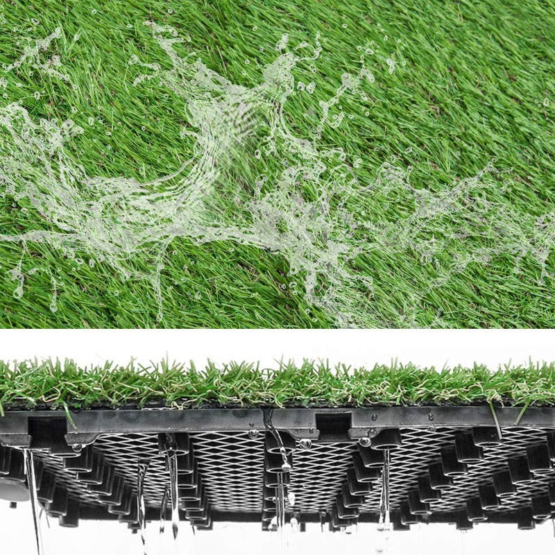 New Interlocking Artificial Grass Tiles With Self-draining System, 1'X1', Various Piles Height Available