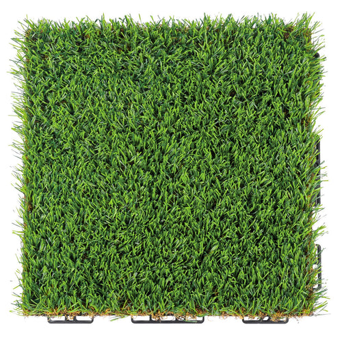 Artificial Grass Interlocking Tiles for Dog Rugs Size 1'X1' 0.8'' Piles Height 1 Pack