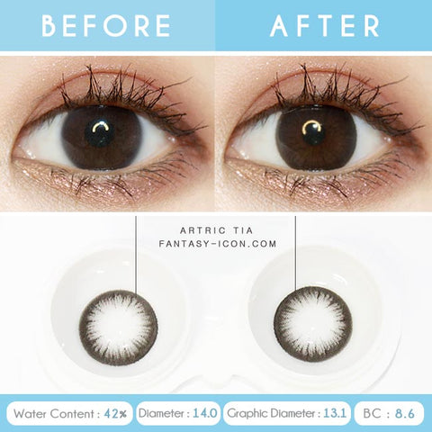 1-Day Colored Contacts Artric Tia Black - Detail