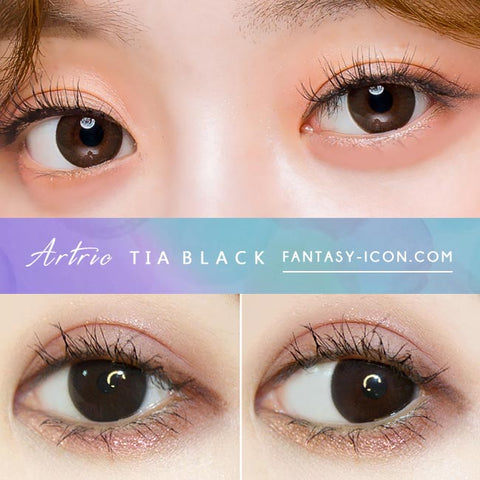 Black 1-Day Colored Contacts Artric Tia - Detail