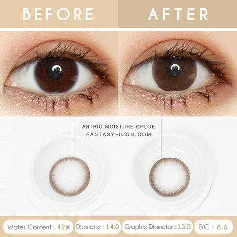 Brown 1 Day Colored Contacts Chloe Artric - Detail