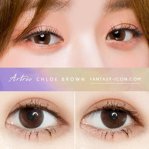 Brown 1 Day Colored Contacts Chloe Artric - Eyes