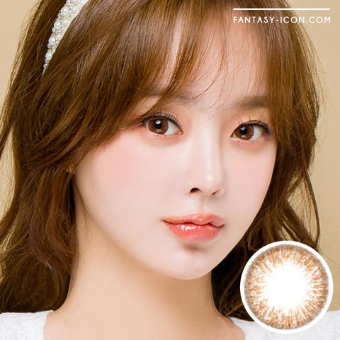 Brown 1 Day Colored Contacts Poppy Artric Model