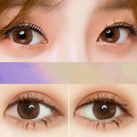 Brown 1 Day Colored Contacts Poppy Artric - Eyes
