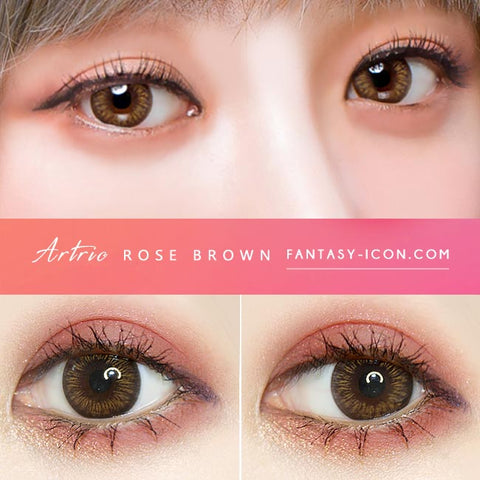1 Day Colored Contacts Rose Artric Brown-Eyes Detail