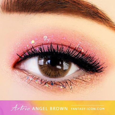 Brown 1 Day Colored Contacts Angel Artric - Eyes