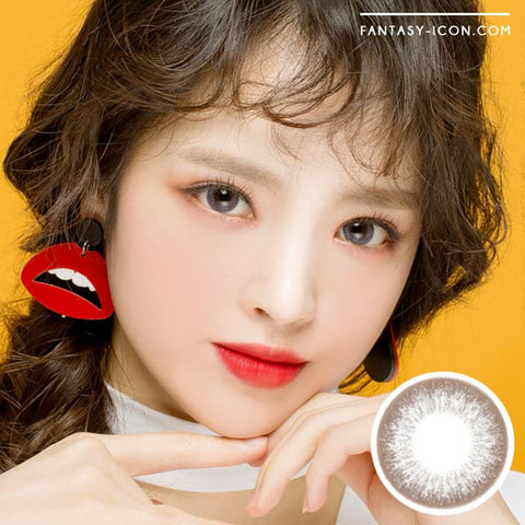 Grey 1 Day Colored Contacts Angel Artric Model