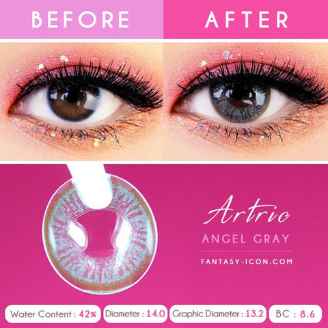 Grey 1 Day Colored Contacts Angel Artric - Detail