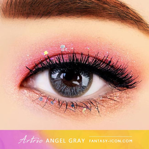 Grey 1 Day Colored Contacts Angel Artric - Eyes2