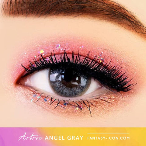 Grey 1 Day Colored Contacts Angel Artric - Eyes