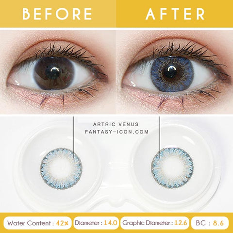Blue 1 Day Colored Contacts Venus Artric - Detail