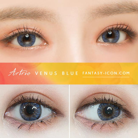 Blue 1 Day Colored Contacts Venus Artric - Eyes Detail