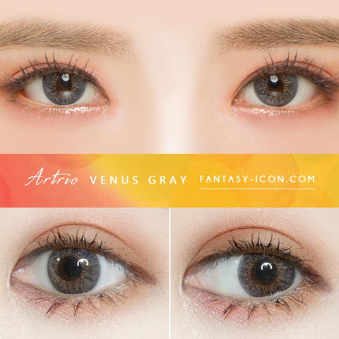 Grey 1 Day Colored Contacts Venus Artric - Eyes Detail