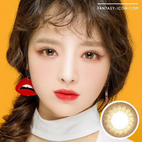 Gold Brown 1 Day Colored Contacts Angel Artric