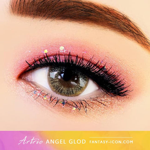 Gold Brown 1 Day Colored Contacts Angel Artric - Eyes