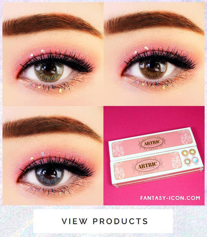1 Day Colored Contacts Angel Artric Box - Brown, Gold and Grey
