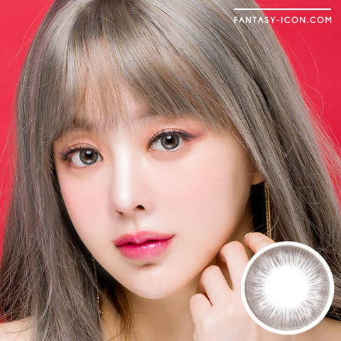 Grey 1 Day Colored Contacts Rose Artric -Model Cut