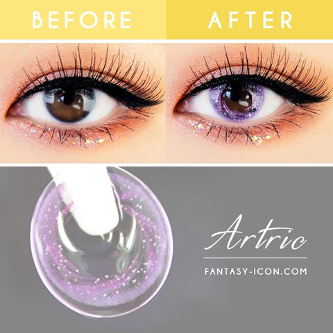 Artric Star Purple Violet Colored Contact Lenses 7