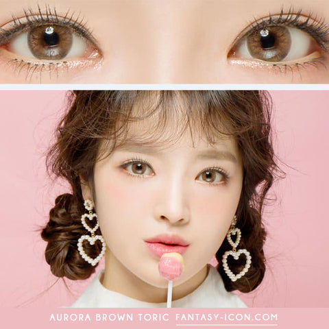 Aurora Brown Toric Lens Colored Contacts For Astigmatism - eye model