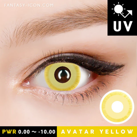 Innovision Yellow Contacts For Halloween
