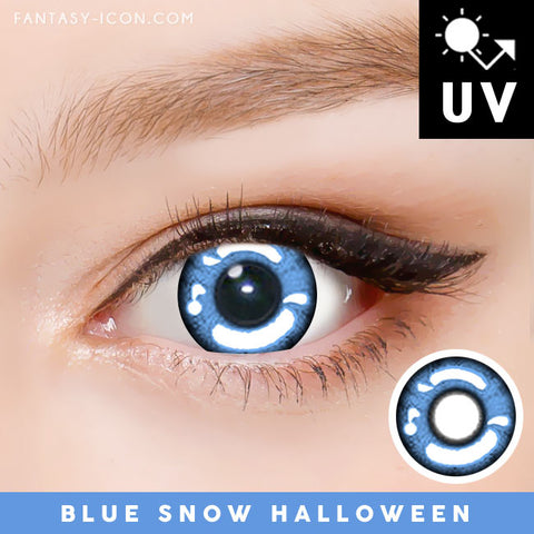 Blue Snow Halloween Contacts