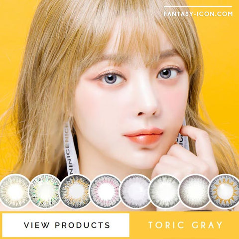 Toric Colored Contacts for Astigmatism - Bonita Dia Grey 4