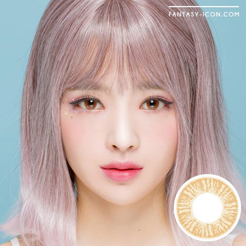 Ruby Artric Brown Colored Contacts Model