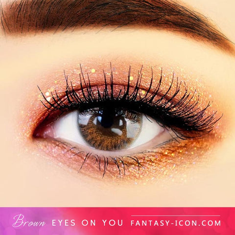 Eyes on You Brown Colored Contacts - Eyes Detail